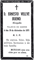 MUERE EL LETRADO Y POETA ERNESTO VELLVÉ (1902+1971)