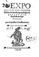 COSTANTINO PONCE, ENCERRADO EN LOS CALABOZOS DE LA INQUISICIÓN
